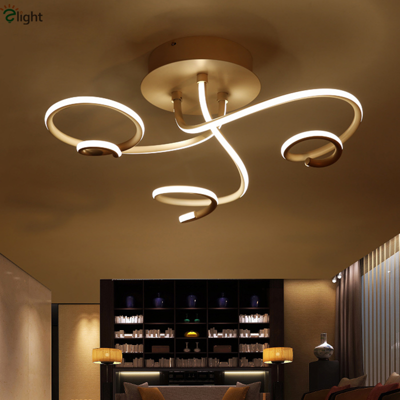Modern Minimalism Curved Aluminum Lustre Dimmable Remote Control Led Ceiling Chandelier Embedded Soft Acrylic Mask Led Chip Lamp modern dimmable curved luxury gold chrome led pendant light eelctroplate aluminium soft acrylic lustre cristal led hanging lamp