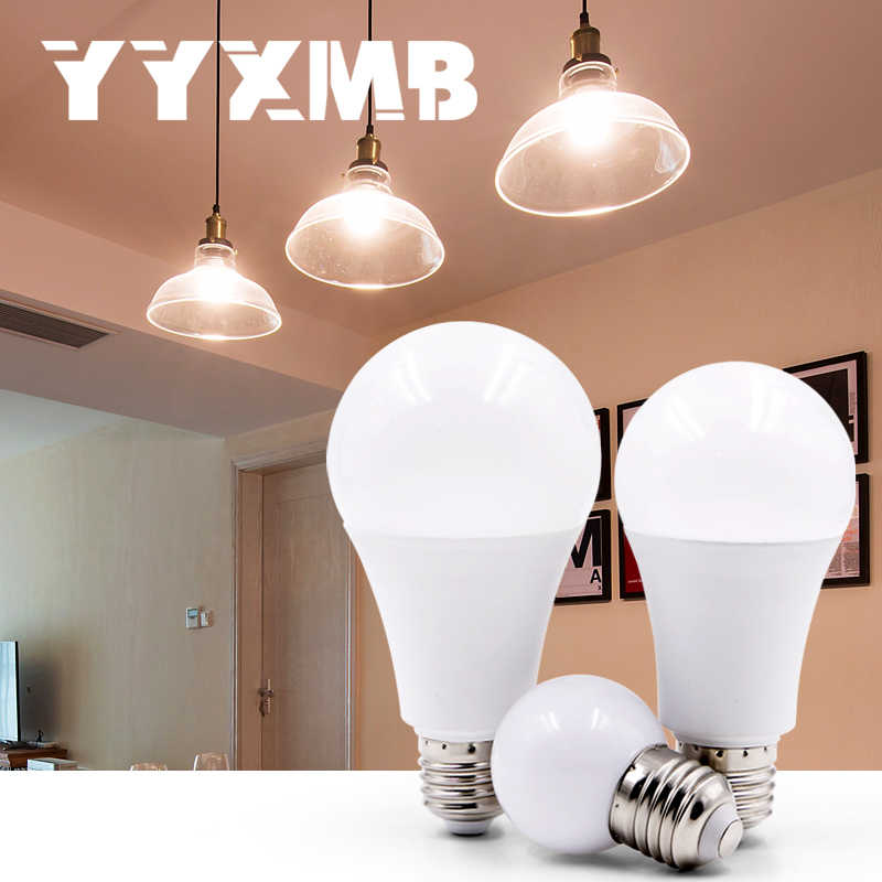 YYXMB LED bulb 3W 6W 9W 12W 15W 18W 20W 24W AC 220V 230V 240V E27 LED Bulb Lamp Smart IC Real Power Cold White/Warm White Lamp