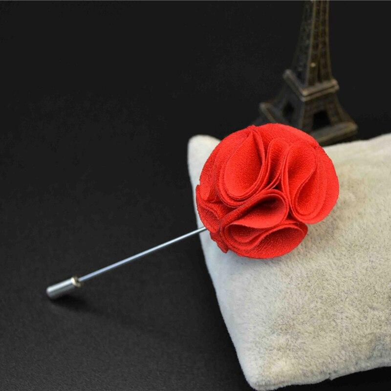 Brooches For Gentlemen Flower Lapel Fabric Wedding Brooch Bouquet Dress Accessories Party Formal Tuxedo Suit Men Lapel Flower