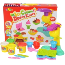 TELECOOL Play Dough Playdough Fimo Polymer Clay Plasticine Tool Molds Clay Polymer Double Color Ice Cream