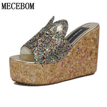 2017 Summer Korean muffin rabbit women sandals with platform sandals wild simple shoes shook with students