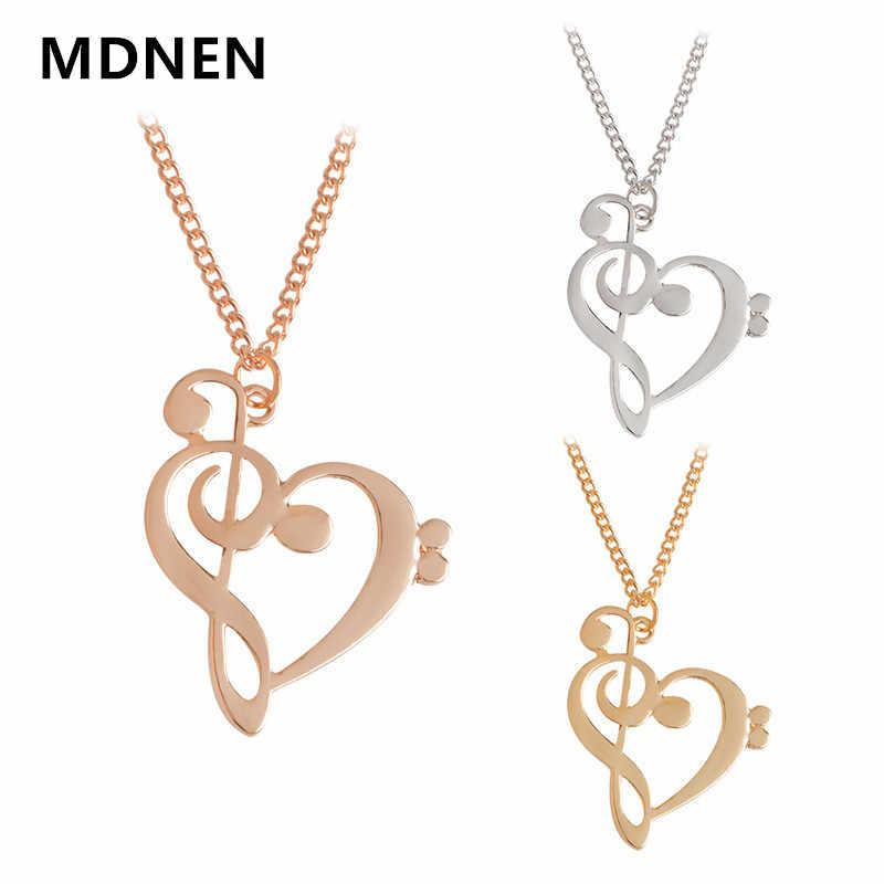 2018 Fashion Music Symbol Heart Necklace Treble And Bass Clefs Infinity Love Charm Pendant Necklaces Women Unisex Jewelry