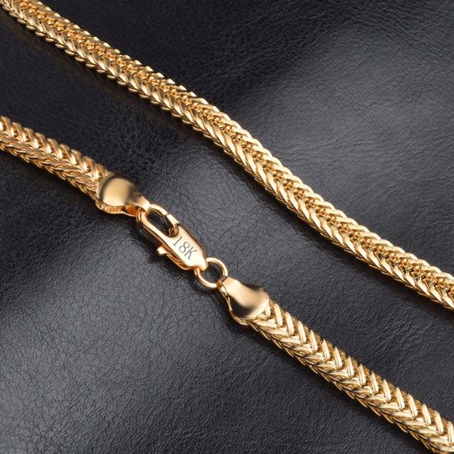 18K Gold Plated Vintage Men's Chain Necklace 1