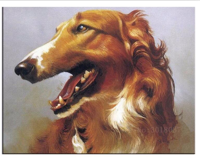 Алмазная мозаика Diy 5D алмазная вышивка длинный рот кудрявая собака 3D Алмазная картина крестиком Цветочные Стразы украшения наборы