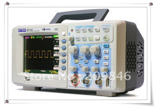 DHL EMS free shipping ATTEN ADS1062C Digital Storage Oscilloscope 60MHz 2 Channel Digital Oscilloscope AT30243