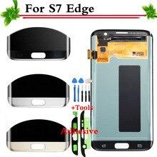 100% Garansi Super AMOLED untuk Samsung Galaksi S7 Sisi G935 G935F Layar Sentuh Tampilan LCD Digitizer Pengganti