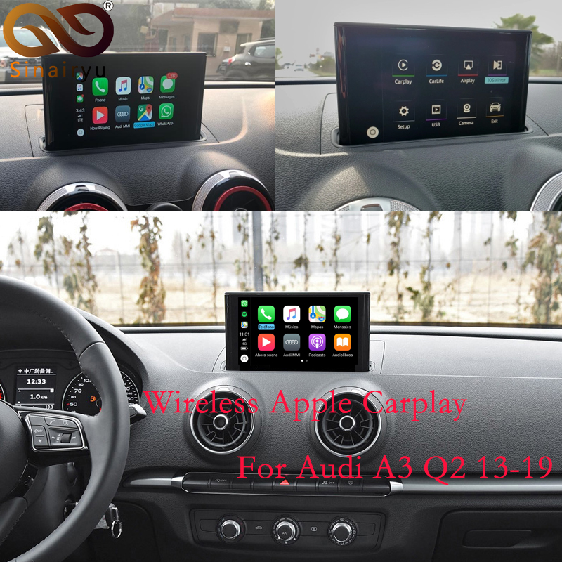 Sinairyu Wireless Apple Carplay Solution for Audi A3 3G 3G MMI with Reverse Camera for Audi