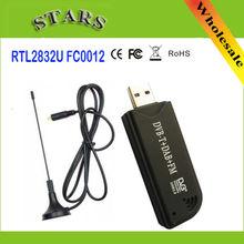 USB2.0 DAB FM DVB-T RTL2832U FC0012 DTS RTL-DTS Dongle Bâton Numérique TV Tuner Récepteur IR À Distance avec Antenne, Dropshipping