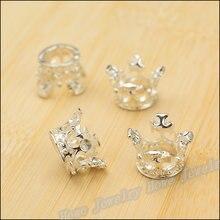 Il trasporto libero 50 pz fascino ciondolo corona brillante argento in lega  di zinco misura il braccialetto della collana diy de. 690403805eae