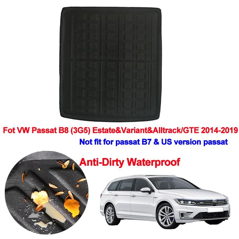 Car Rear Trunk Mat Cargo Tray Boot Liner Carpet Protector Floor For VW Passat B8 (3G5) Estate & Variant & Alltrack/GTE 2014-2019