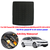 Car Rear Trunk Mat Cargo Tray Boot Liner Carpet Protector Floor For VW Passat B8 (3G5) Estate & Variant & Alltrack/GTE 2014 2019