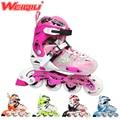 Japy Skate 2015 WeiQiu Children Roller Skates Adjustable Four Wheels Outdoor Inline Skating Shoes For Kids JJ Series 5 Colors
