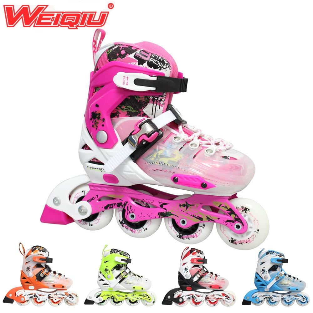 Roller skating shoes buy online - Japy Skate 2015 Weiqiu Children Roller Skates Adjustable Four Wheels Outdoor Inline Skating Shoes For Kids
