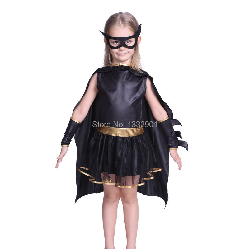 Kids Girls Superhero Batgirl Costume Fancy Dress Up 3 7 Years Old-in Kids Costumes u0026 Accessories from Novelty u0026 Special Use on Aliexpress.com | Alibaba ...  sc 1 st  AliExpress.com & Kids Girls Superhero Batgirl Costume Fancy Dress Up 3 7 Years Old-in ...