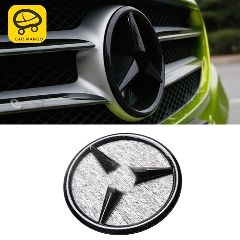 CarManGo For Mercedes Benz A C Class W205 W177 GLA CLA Auto Front Grill Logo Sticker