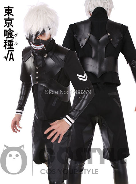 New Arrival Anime Tokyo Ghouls Ii Ken Kaneki Cosplay Costume Leather