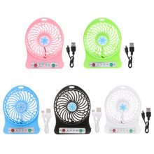 Portable LED Light Mini Fan Air Cooler Mini Desk USB Fan Third Wind USB Fan(China)