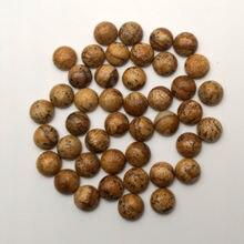 Модный камень с рисунком 8 мм Хорошее качество натуральный круглый