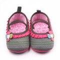 Новое Прибытие Красивый Трикотаж Девочка Ходьбы Обувь С Резиновой Подошвой Для 0-18 Месяцев