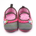 New Arrival Beautiful Knitted Fabrics Baby Girl Walking Shoes With Rubber Sole For 0-18 Months