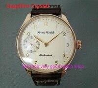 Sapphire Crystal 44mm PARNIS Butter yellow dial asian 6497/3600 Mechanical Hand Wind movement men's watch Mechanical watches 88