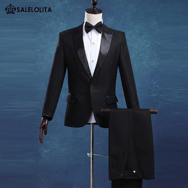 Aliexpress.com : Buy Fashion Boutique Business Formal Suit Black ...