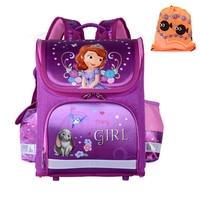 c06c230828a 2017 Girls School Bags Backpacks Children Orthopedic Waterproof Backpack  Girl S Sofia Book Bag Kids Satchel