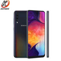 "Tout nouveau téléphone portable Samsung Galaxy A50 A505GN-DS 4G 6.4 ""6 GB RAM 128GB ROM Exynos 9610 Octa Core Android 9.0 téléphone double SIM"
