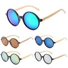 Round Bamboo Sunglasses Polarized Luxury Brand Wood Women Vintage Sun glasses For Female oculos de sol feminino