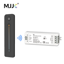 CCT LED Dimmer 12V 24V DC 10A 2.4G RF Wireless Remote Controller WW CW 2CH for Single Color Dual White Strip Light