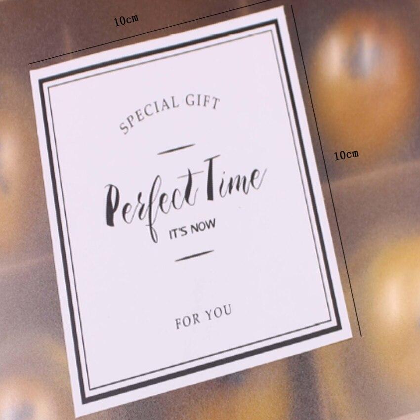 Купить с кэшбэком 20Pcs/lot White SPECIAL GIFT Rectangle Kraft  Gift Cake Baking Sealing label FOR YOU baking cake sticker