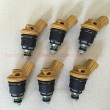 6# high performance 555cc Nismo side feed fuel injector 16600-RR543 yellow for nisaan 300ZX Z32 RB25DET VG30DETT SR20DET KA24