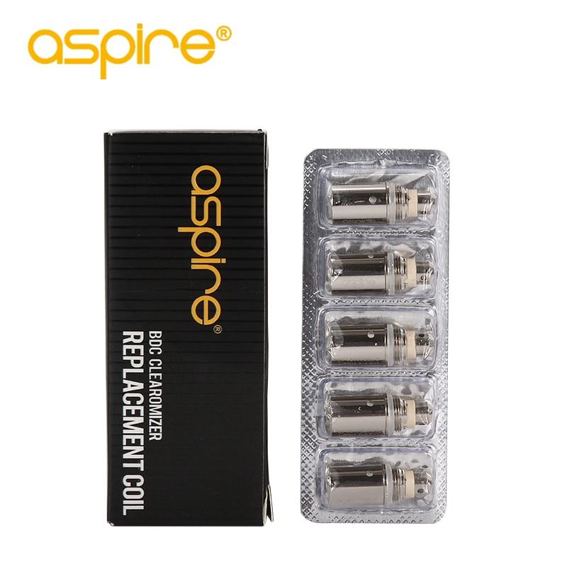 E-cigarettes Aspire BDC Coil 1.6/1.8/2.1ohms Replacement Bottom Dual Coil Head For Aspire Vaporizer 5pcs/lot Clearance Sale