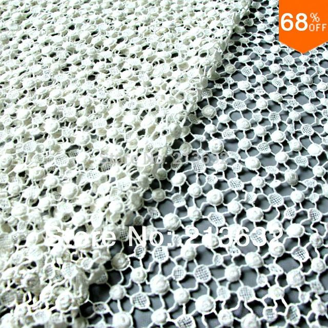 Pos72 97 Textile Hot Water Soluble Cotton Embroidery Fabric Punch