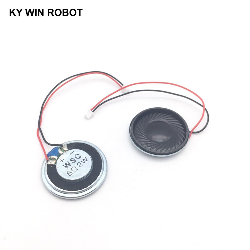 2pcs/lot New Ultra-thin <font><b>speaker</b></font> <font><b>8</b></font> <font><b>ohms</b></font> 2 watt <font><b>2W</b></font> 8R <font><b>speaker</b></font> Diameter 30MM 3CM thickness 5MM with 1.25mm terminal wire length 10C image