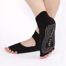 Women Yoga Socks Half Toe Non Slip Ladies Massage Sport Socks Half-fingers Cotton Warm Exercise Running Hose