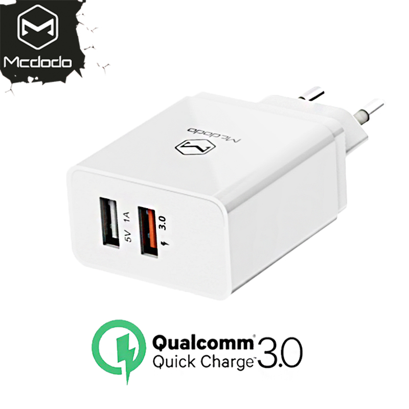 MCDODO EU Plug USB Fast Charging 23W for iPhone 8 X 7 6 iPad QC 3.0 USB Wall Charger for Samsung S9 LG Mobile Phone Adapter