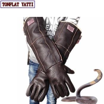 2020 Anti bite handschoenen 60cm veiligheid lange handschoenen plus dikke catch animal zoals hond, kat, reptiel, snake Huisdieren training voeden handschoenen