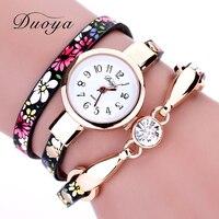 Duoya watch women brand luxury gold flower women bracelet watch ladies dress vintage electronic quartz wristwatch.jpg 200x200