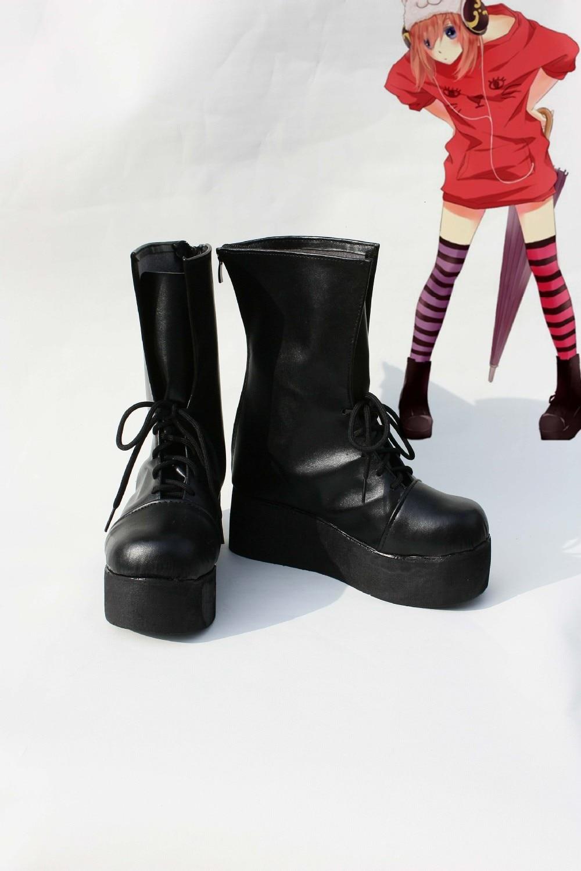 931332689 இCustom made preto Sapatos botas de Gin Tama kagura Cosplay - a22