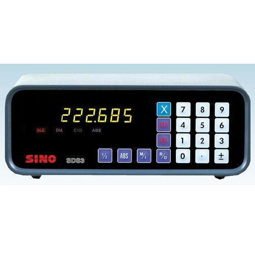 SINO SDS3 1V pojedyncza oś dro jednostki z optyczną liniową skalą szklaną jednoosiowy cyfrowy odczyt DRO display