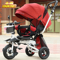 Can Sit Lie Baby Stroller 3 In 1 Portable Baby Tricycle Bike Baby Carriage 3 Wheels Convertible Handle Children Bicycle Trike