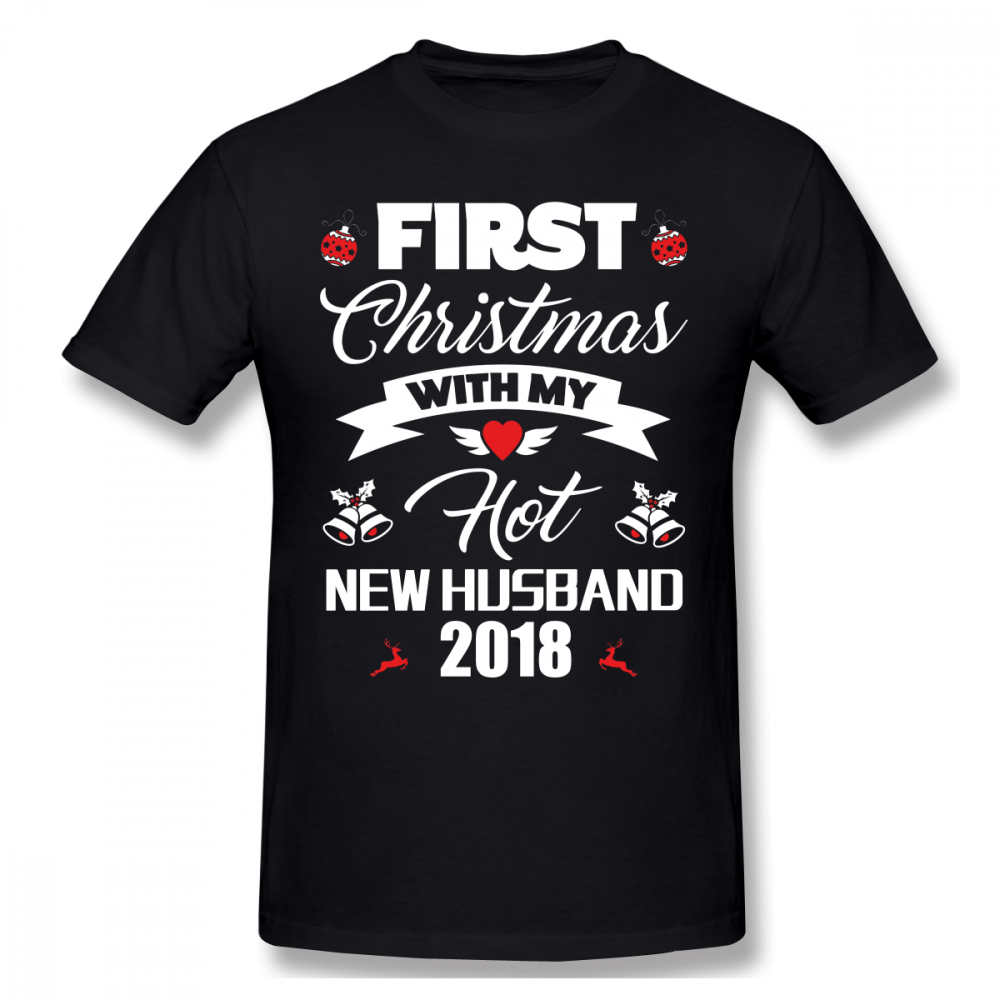 Hot Wife T Shirt First Christmas With My Hot New Husband 2018 Gift T ...