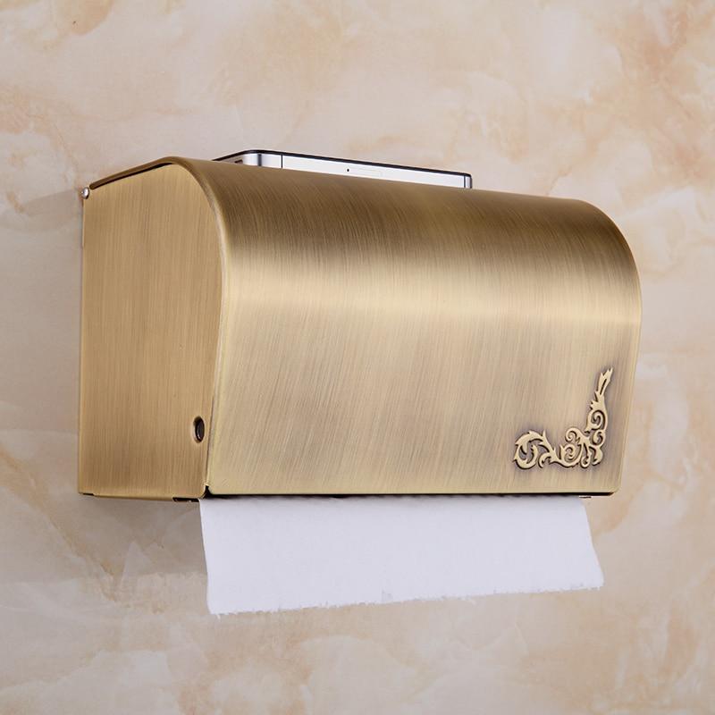 En cuivre de style européen antique tissu fermé boîte porte-serviettes en papier porte-papier hygiénique porte-papier lo821334