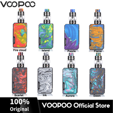 VOOPOO Drag 2 177W Mod Box Vape Kit 5ML UFORCE T2 Tank Atomizer Fit Dual 18650 Battery Electronic Cigarette Vaporizer Mod Kit original atvs blade vape mod starter kit e cigarette 228w vw tc box mod 5ml top fill sr 11 atomizer tank vaporizer vs revenger x