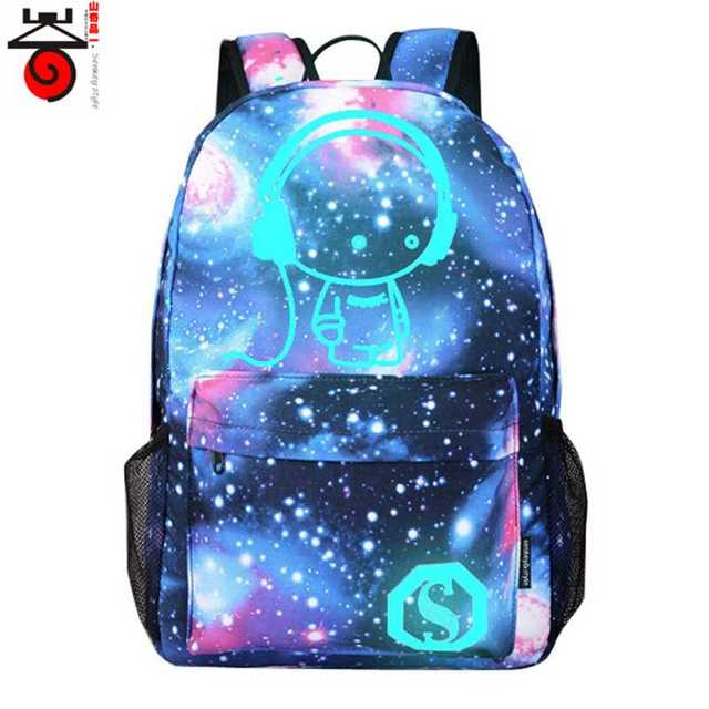 2018 Fashion backpacks for teenagers Student Cartoon Preppy Backpack Starry  sky Light Print Noctilucent School Bags mochila 76e984726f079