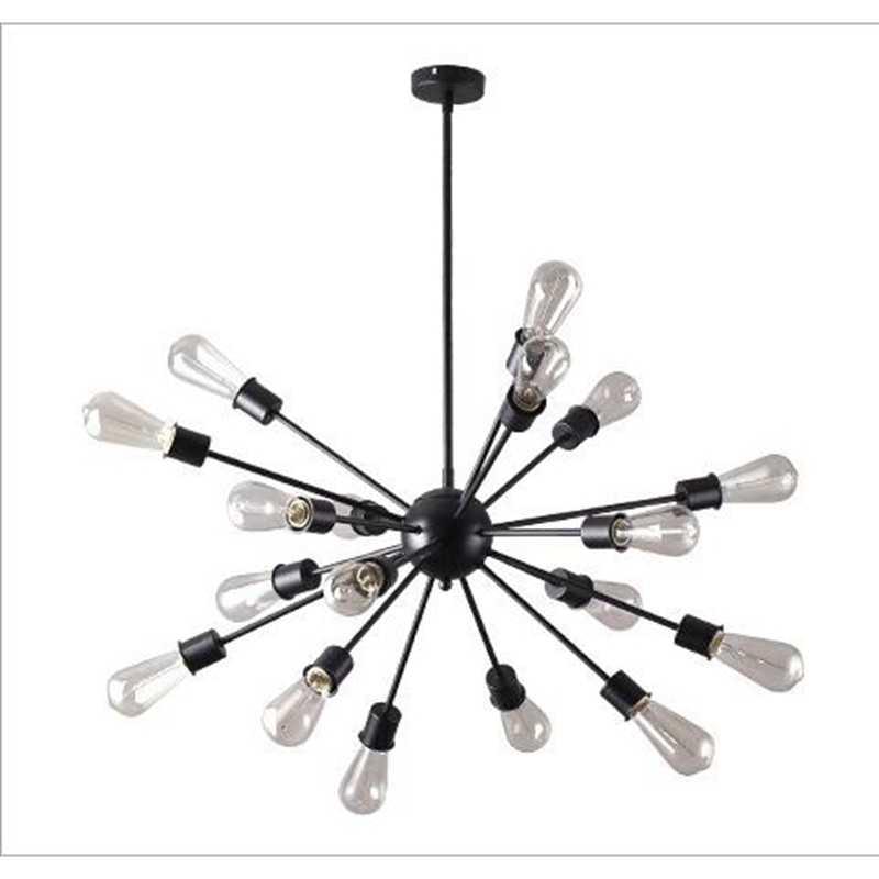 Лофт современный подвесной светильник Железный минималистичный спутниковый светодиодный винтажный подвесные светильники приспособление для учебы гостиная Магазин Бар