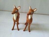 Simulation Sika Deer Model Polyethylene Real Furs Female Deer 11x15cm Handicraft Figurines Prop Home Decoration Toy