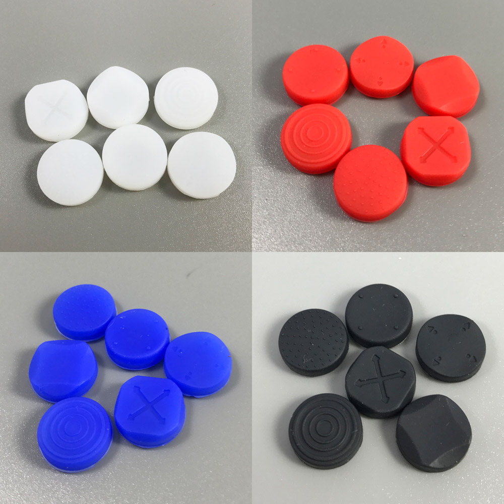 4 color 1 set 6-in-1 Silicone Grip Analog Joystick Cap Cover For Sony PS Vita for PSV Console 1000 2000 Buttons стоимость