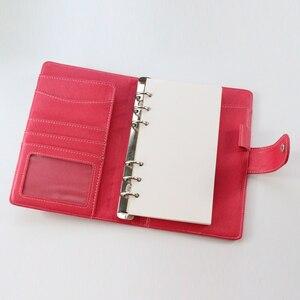 Image 5 - Domikee hohl leder büro schule spirale planer notebooks schreibwaren, feine persönliche binder wöchentlich planer agenda organizer A6